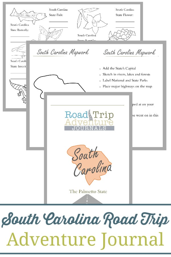 south carolina road trip, south carolina road trip journal, south carolina road trip adventure journal