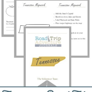 tennessee road trip, tennesse road trip journal, tennessee road trip adventure journal