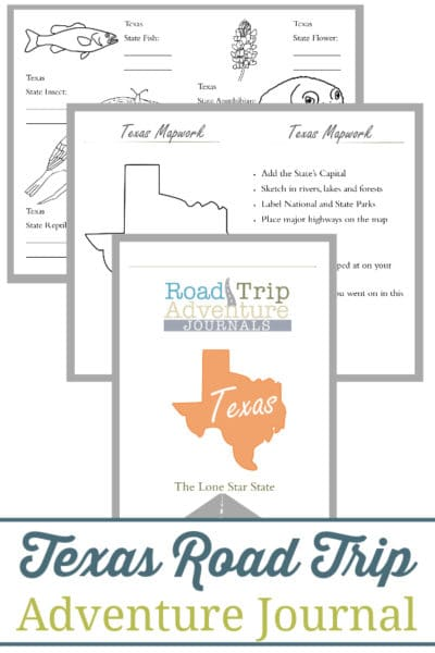 texas road trip, texas road trip journal, texas road trip adventure journal
