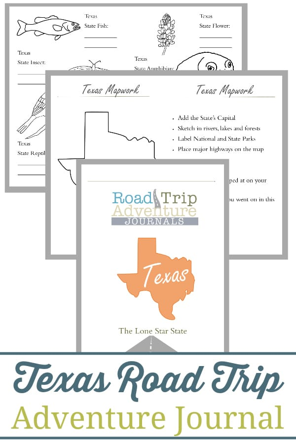 texas road trip, texas road trip journal, texas road trip adventure journal