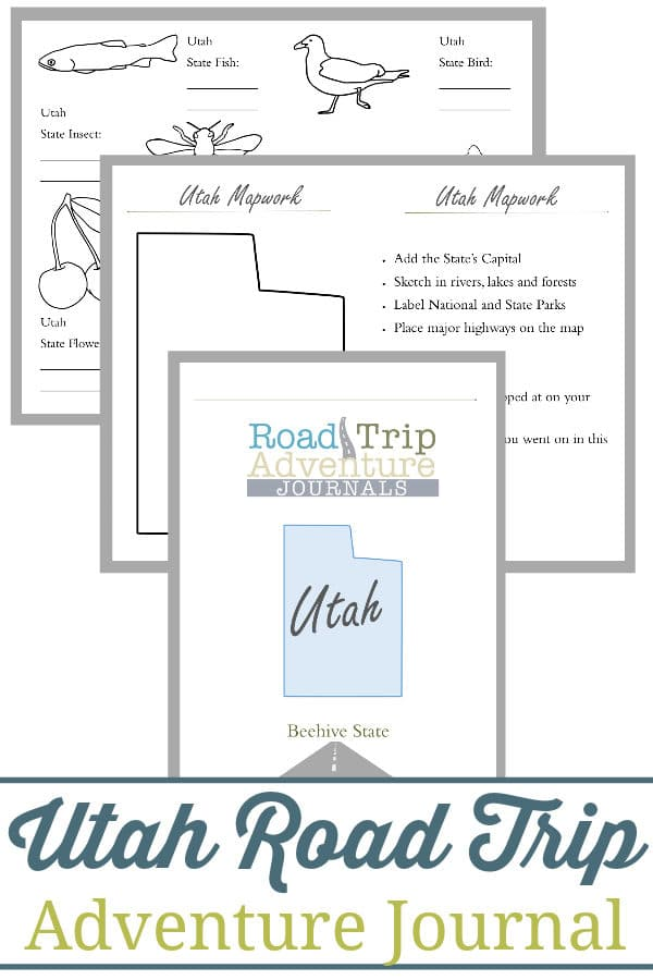 utah road trip, utah road trip journal, utah road trip adventure journal