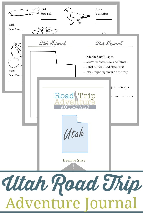 utah road trip, utah road trip journal, utah road trip adventure journal