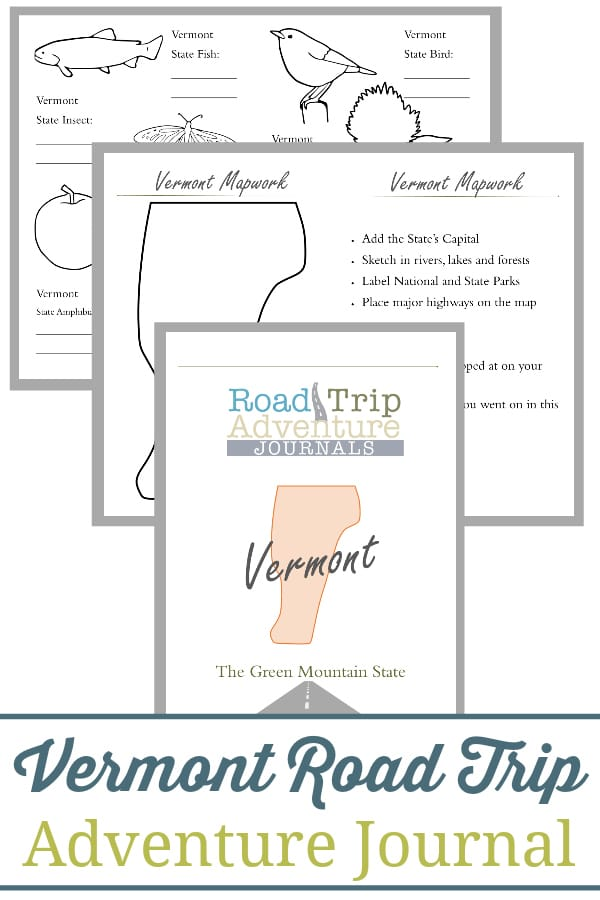 vermont road trip, vermont road trip journal, vermont road trip adventure journal