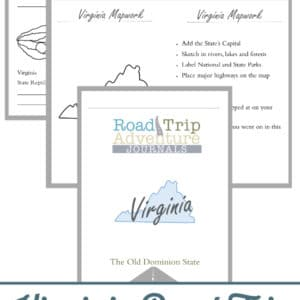 virginia road trip, virginia road trip journal, virginia road trip adventure journal