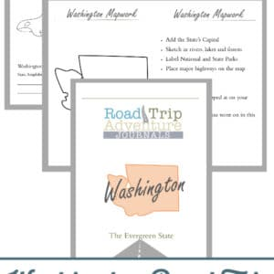 washington road trip, washington road trip journal, washington road trip adventure journal