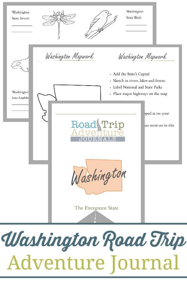 washington road trip, washington road trip journal, washington road trip adventure journal
