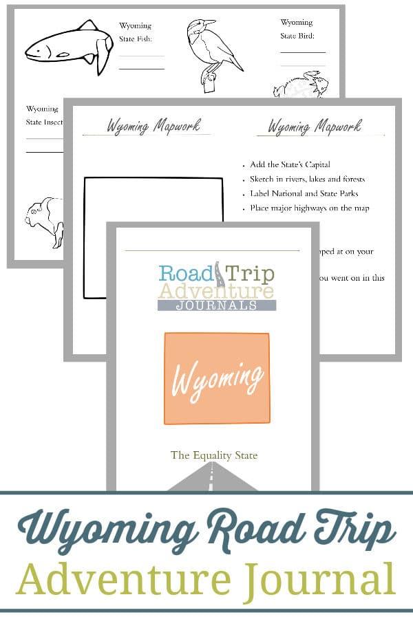 wyoming road trip, wyoming road trip journal, wyoming road trip adventure journal
