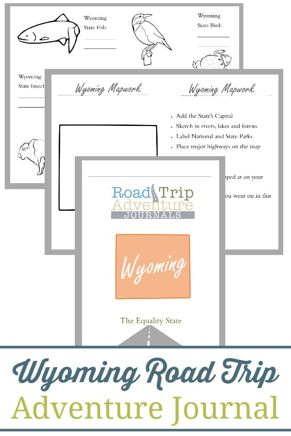 wyoming road trip, wyoming road trip journal, wyoming road trip adventure journal