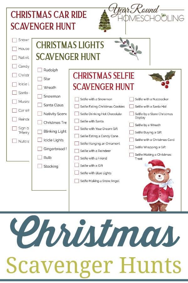 christmas scavenger hunts, printable christmas scavenger hunts, free christmas scavenger hunts
