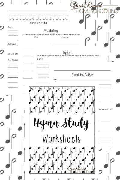 Hymn Study Worksheets