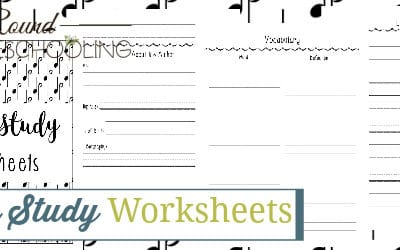 Hymn Study Worksheets
