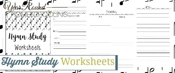 hymn study worksheets, hymn study worksheet, hymn study printable, hymn study