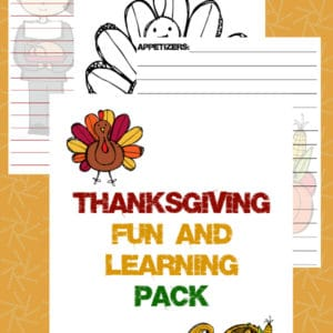 thanksgiving fun and learning, thanksgiving fun pack, thanksgiving learning pack, thanksgiving activity pack