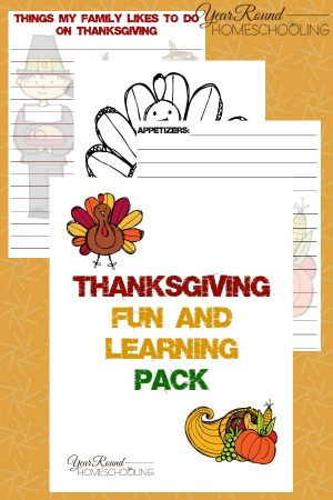 Thanksgiving Fun and Learning Pack