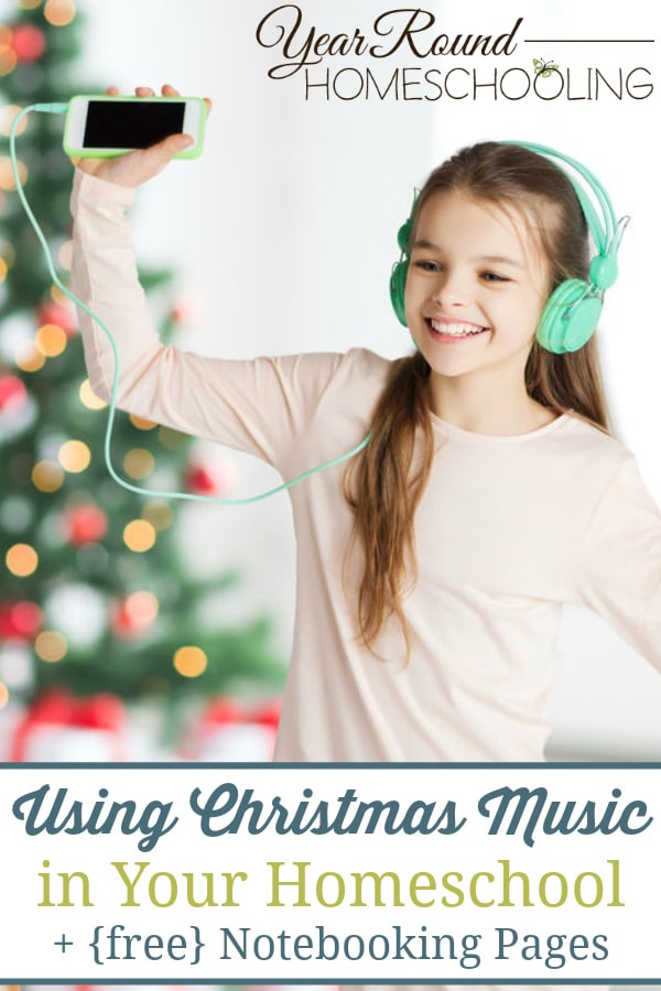christmas music in your homeschool, christmas music notebooking pages, christmas music notebooking, christmas music homeschool, homeschool christmas music