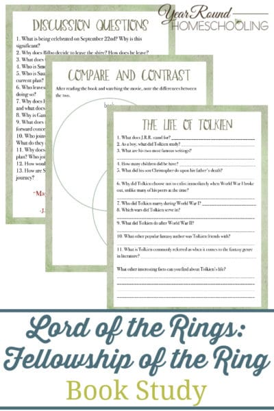 Fellowship of the Ring Book Study