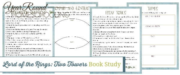 two towers book study, two towers book, Lord of the Rings book study, Lord of the Rings book