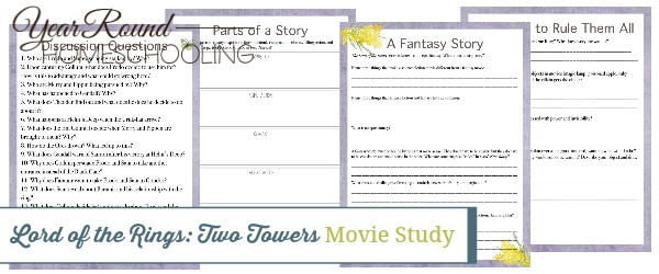 two towers movie study, two towers movie, Lord of the Rings movie study, Lord of the Rings movie