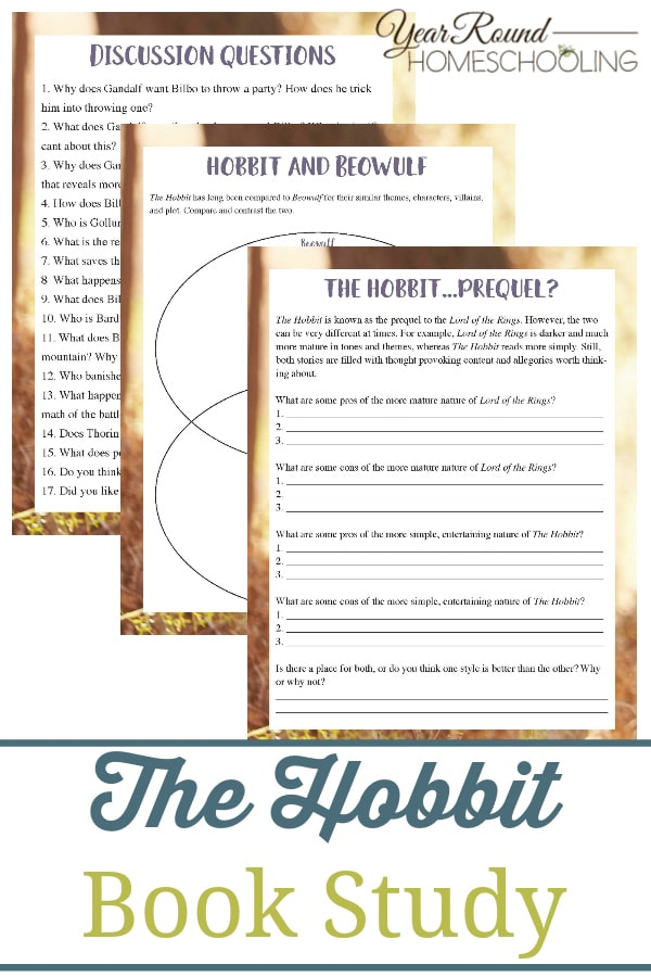 the hobbit book study, hobbit book study, the hobbit