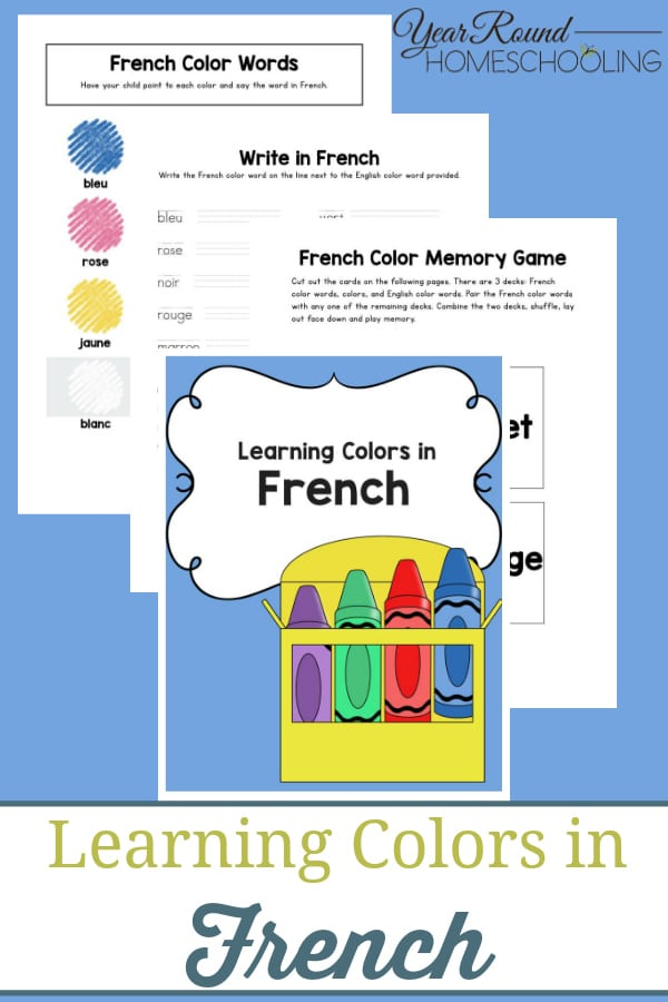 Learning Colors in French - Year Round Homeschooling