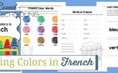 colors french, french colors, learning colors in french, learning colors french, colors in french