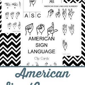 american sign language clip cards, american sign language clip cards pack, asl clip cards, asl clip cards pack, asl, american sign language