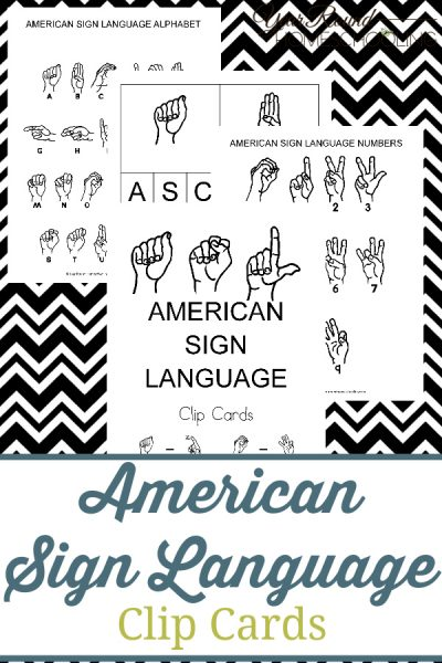 American Sign Language Clip Cards Pack
