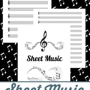 sheet music pages, blank sheet music, sheet music