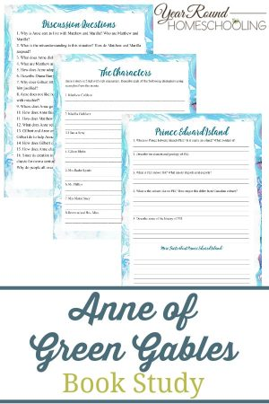Anne of Green Gables Book Study Pack