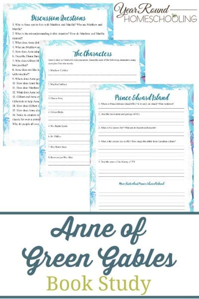 Anne of Avonlea Book Study Pack