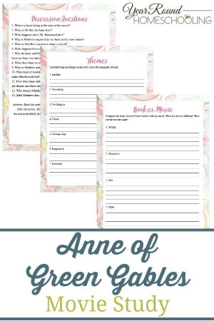 Anne of Green Gables Movie Study Pack
