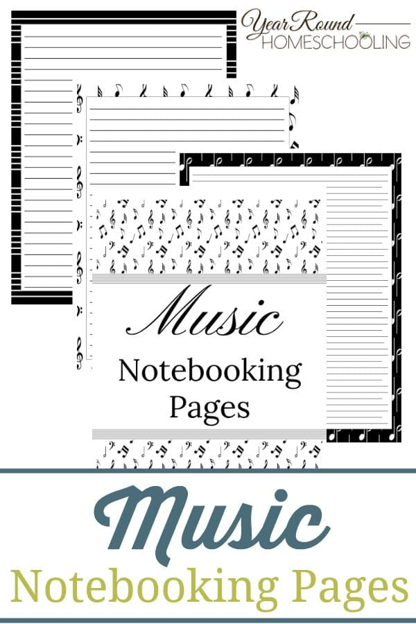 music notebooking pages, notebooking pages for music, notebooking pages music