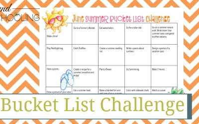 June Summer Bucket List Challenge