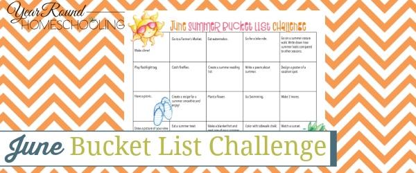 June Summer Bucket List Challenge