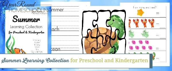 Preschool-Kindergarten Summer Learning Collection