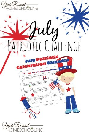 July Patriotic Challenge Calendar