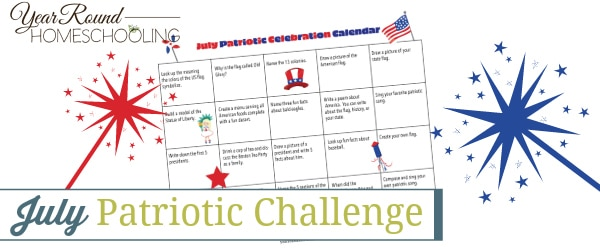 patriotic challenge, july challenge