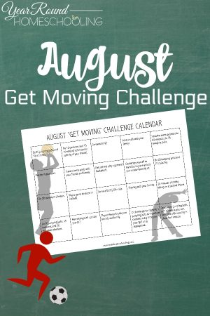 August Get Moving Challenge Calendar