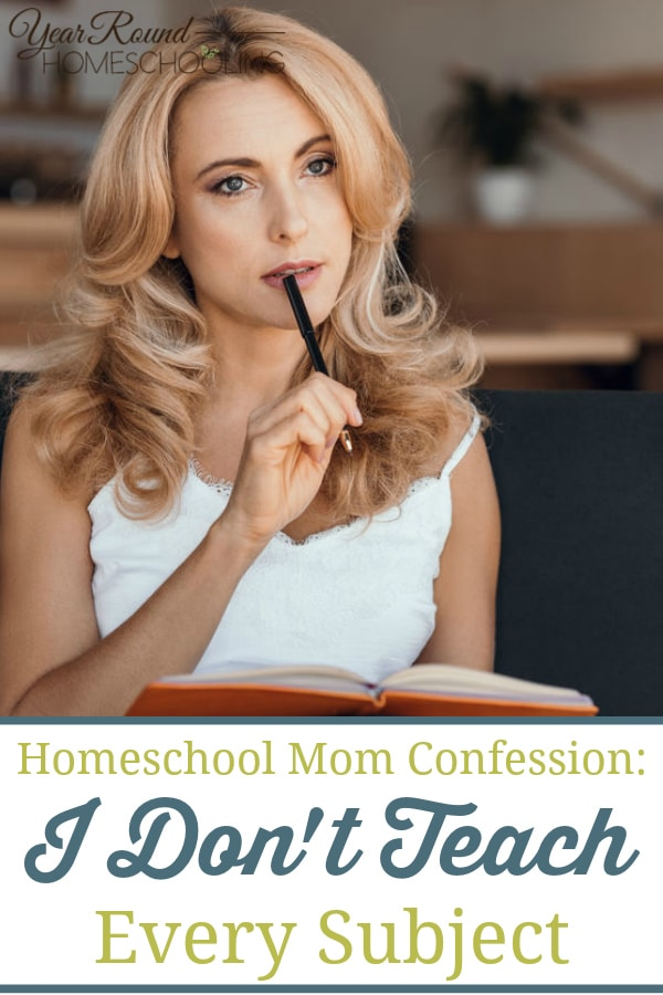 homeschool mom confession, homeschool confession, teach every subject