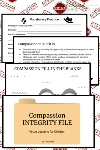 Compassion Integrity Files: Virtue Lessons for Kids