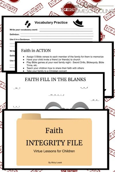 Faith Integrity Files: Virtue Lessons for Kids
