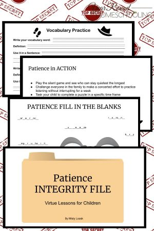 Patience Integrity Files: Virtue Lessons for Kids