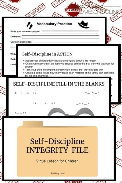 Self-Discipline Integrity Files: Virtue Lessons for Kids