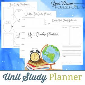 unit study planner, unit study plan, planner unit study, unit study