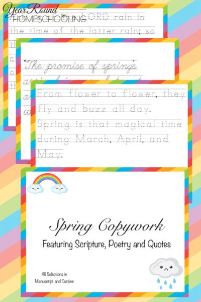 Spring Copywork