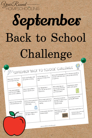 September Back to School Challenge