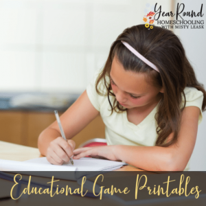 Educational Game Printables