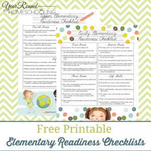 Upper Elementary Readiness Checklist