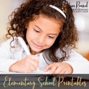 Elementary School Printables