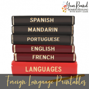 Foreign Language Printables